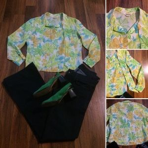 New Listing! Vintage 50s Tie Neck Blouse